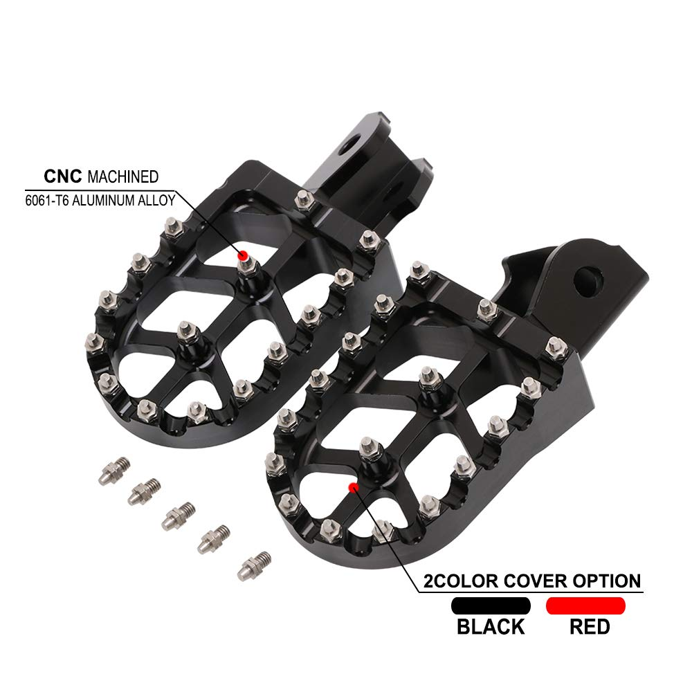 Motorcycle Wide Foot Pegs MX Foot Pedals Rests CNC-For Honda CRF150F 2003-2019 CRF230F 2003-2019- Black
