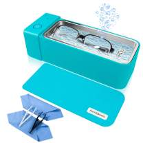 Ultrasonic Jewelry Cleaner Professional Ultrasonic Cleaner Machine for Cleaning Silver Jewelry Eyeglasses Rings Watches Earrings Necklaces Coins Razors Tools Cleaner 600ML 50kHz