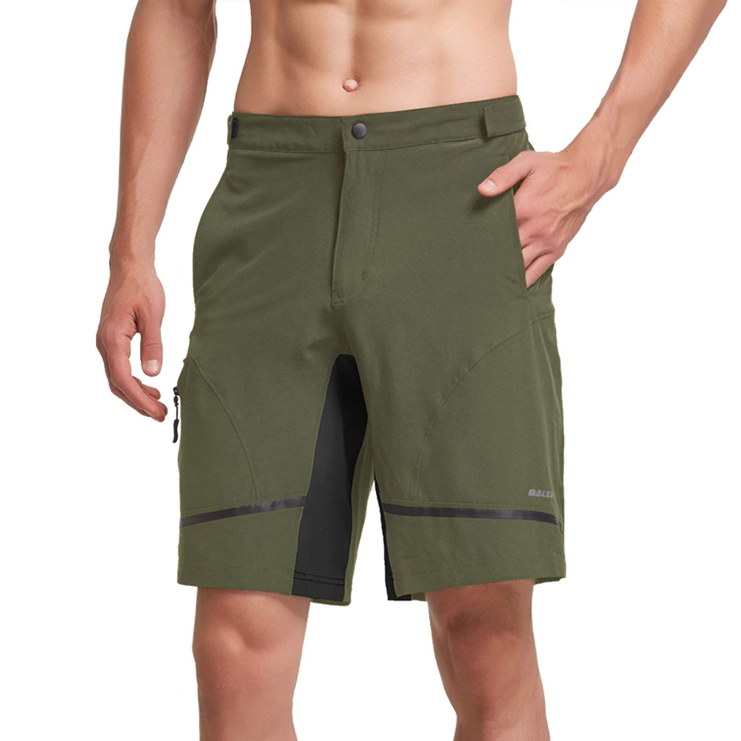 BALEAF Men's Hiking Shorts Lightweight Quick Dry UPF 50+ Cycling Shorts for MTB, Camping, Travel