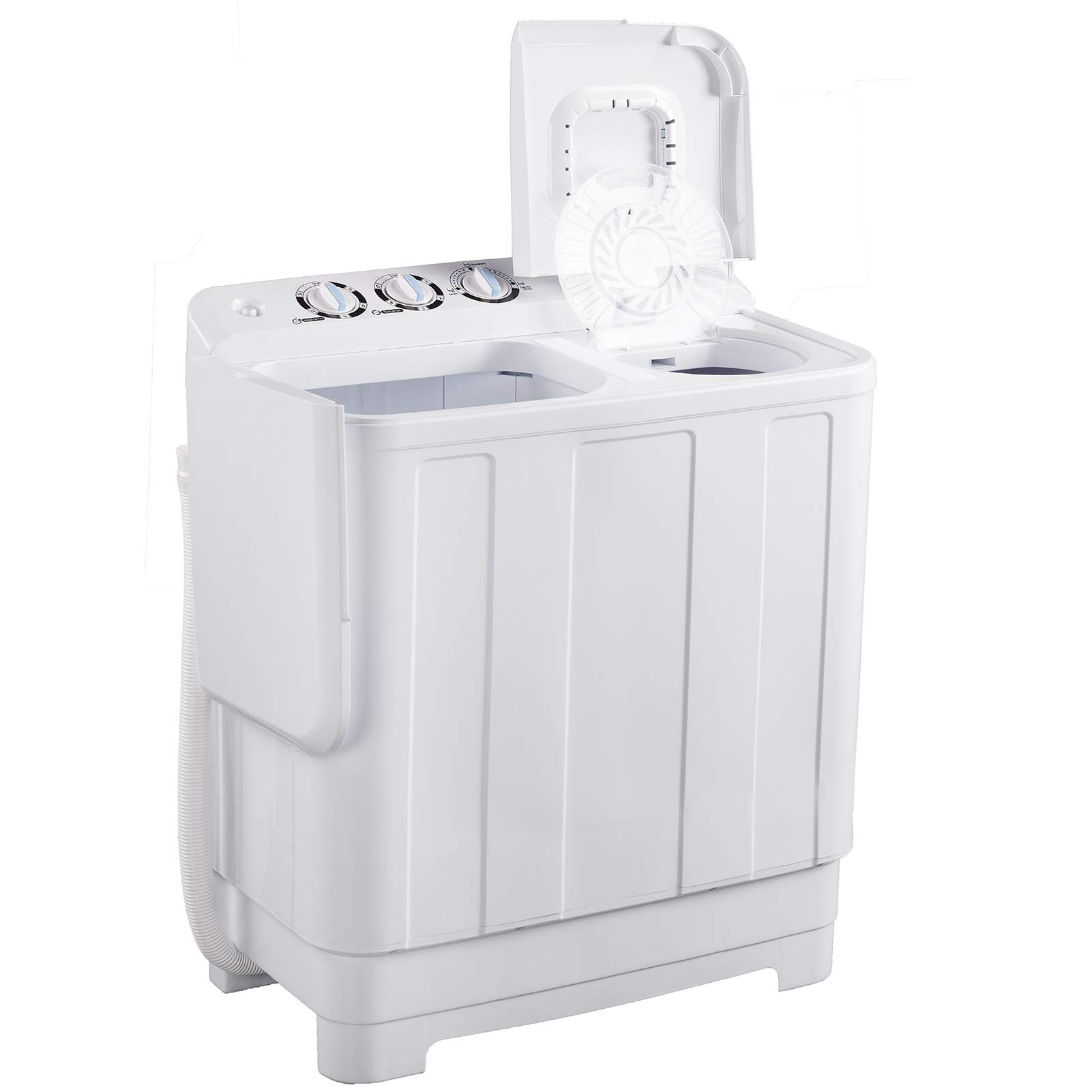 Frifer Portable Twin Tub Washing Machine, Compact Mini Washer and Spin Dryer Combo For Camping, Apartments, Dorms, College Rooms, RVs and more (25LB/white)