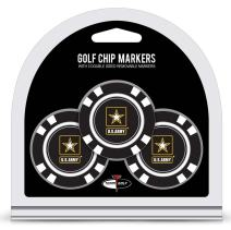 Team Golf Military Air Force Golf Chip Ball Markers (3 Count), Poker Chip Size with Pop Out Smaller Double-Sided Enamel Markers