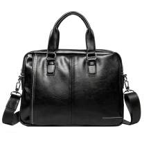 Leather Business Messenger Bag Shoulder Handbag for Men Travel Outdoor Crossbody Handbags Briefcase Wallet Phone Pouch Purse Casual Daypack