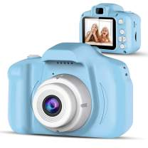 Moclever Kids Camera, Digital Video Recorder Camera for Boys & Girls Age 3-8, Mini Rechargeable Children Camera Shockproof 12MP HD Toddler Cameras Child Camcorder (16GB Memory Card Included) (Blue)