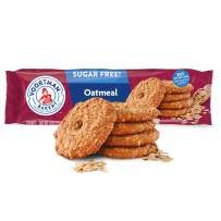 Voortman Bakery, Sugar Free Oatmeal Cookies, 8 oz. Bag, Pack of 4 -Delicious Sugar Free CookieMade with Real Ingredients, Perfect for SnackTime, Lunches and More