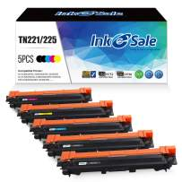 INK E-SALE Compatible Toner Cartridge Replacement for Brother TN221 TN225 TN-221 TN-225 (2KCMY, 5-Pack), for use with Brother HL3170CDW HL-3170CDW, HL3140CW HL3180CDW MFC9130CW MFC9330CDW MFC9340CDW