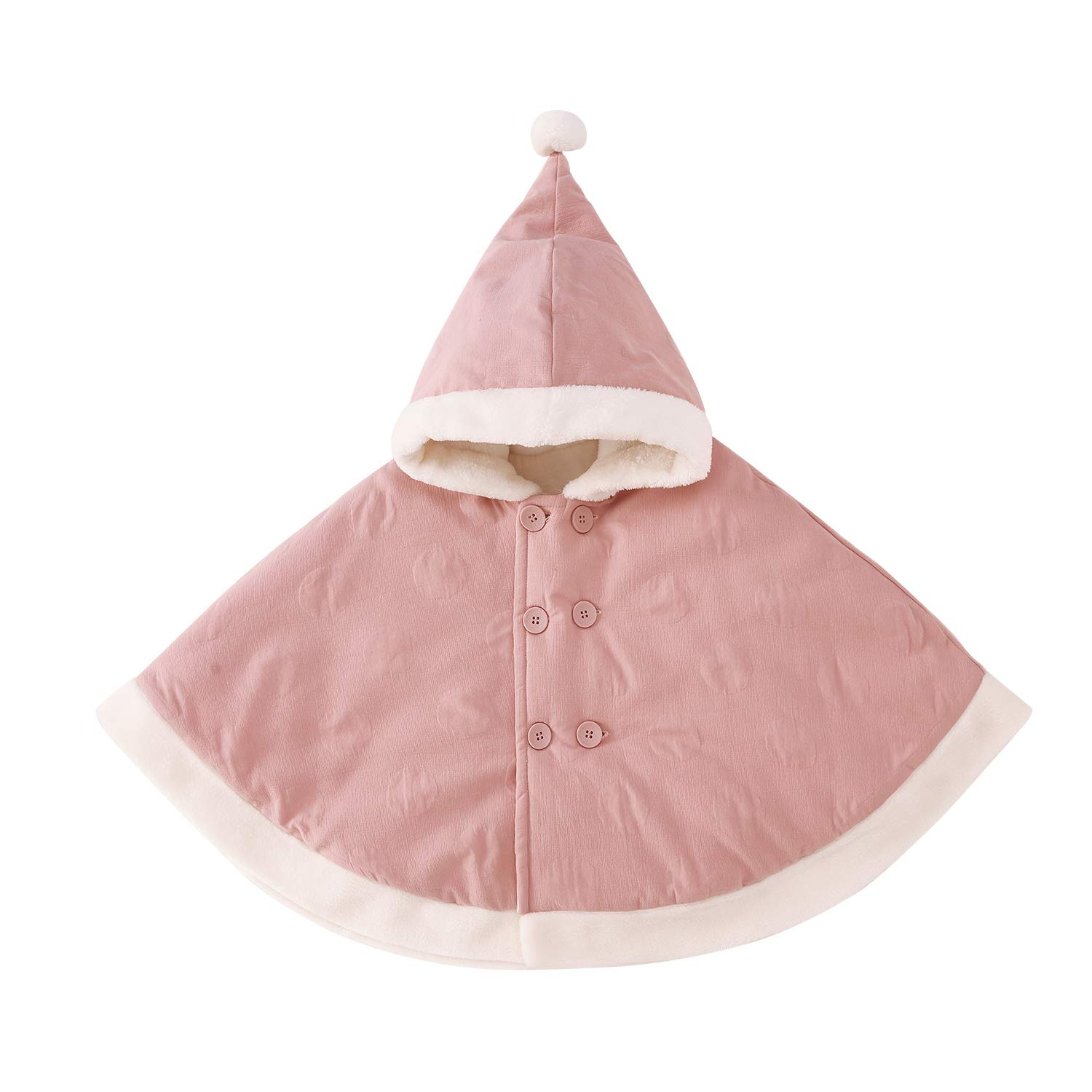 pureborn Baby Girls Boys Hooded Cape Cloak Carseat Poncho Coat Toddler Spring Winter Outfit 0-3 Years