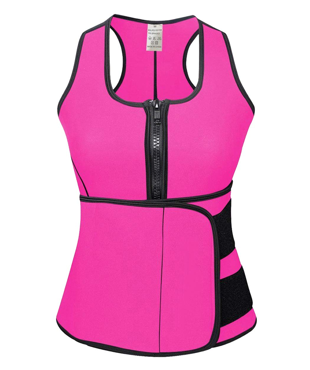 FLORATA Neoprene Sauna Suit Tank Top Vest with Adjustable Waist Trimmer Belt (See The Size Chart)