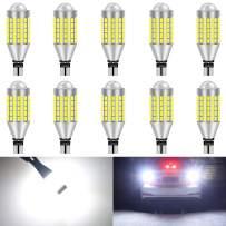KATUR T15 T10 912 921 Led Light Bulb Super Bright 900 Lumens High Power 3014 78SMD Lens LED Bulbs for Brake Turn Signal Tail Backup Reverse Brake Light Lamp,Xenon White(Pack of 10)