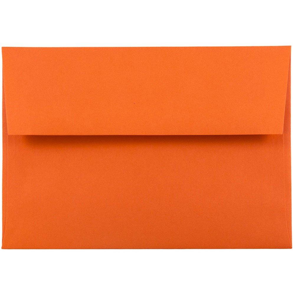 JAM PAPER A6 Colored Invitation Envelopes - 4 3/4 x 6 1/2 - Orange Recycled - Bulk 1000/Carton