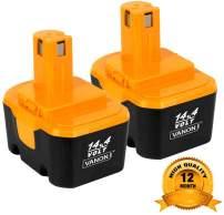 2Pack 3.0Ah 14.4V Ni-MH Battery for Ryobi 130224010 130224011 130281002 1314702 1400144 1400655 1400656 1400671 4400011