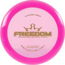 Dynamic Discs Lucid Freedom Disc Golf Driver | Understable Frisbee Golf Distance Driver | Great for Beginners | 170g and Above | Stamp Colors Will Vary