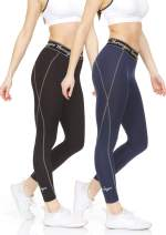 Thermajane Women's Compression Pants - Athletic Tights - Leggings for Yoga, Running, Workout and Sports
