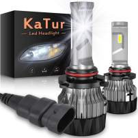 KATUR 9005 HB3 Led Headlight Bulbs Extremely Bright 10000LM CREE Chips Mini Design All-in-One Headlight Conversion Kit 60W 6500K Xenon White-2 Years Waranty