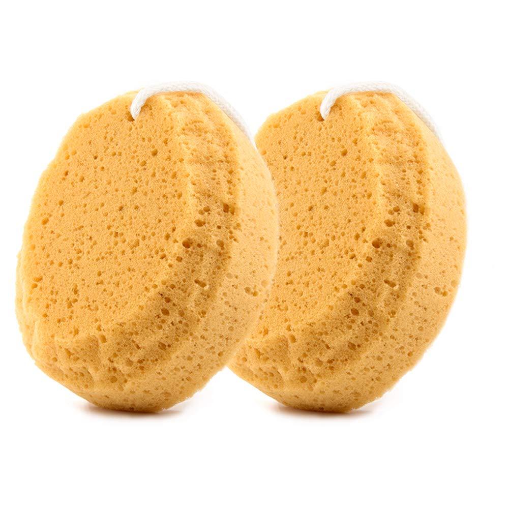 BAIMEI Bath Sponge, Shower Sponge Loofah, Exfoliating Loofahs Pouf Cleaning Body Luffa Sponge (2pcs)