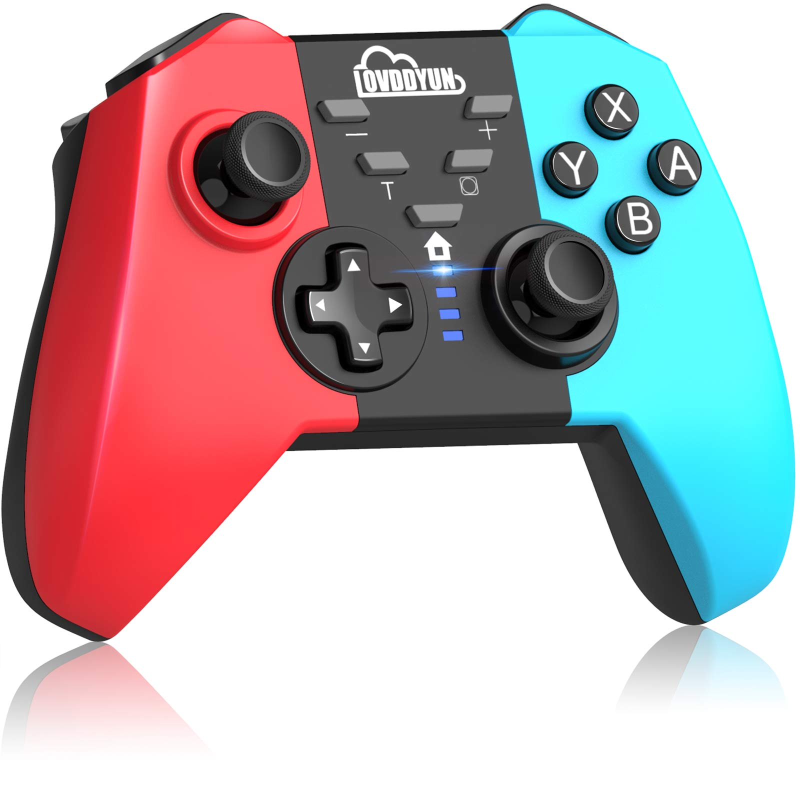 Wireless Pro Controller for Switch/Switch Lite, Professional Controller Support Turbo, One-Key Connection, Dual Motors, Dual Shock, Gyro Axis, Gamepad Joystick for Switch Console