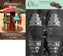 "Cybrtrayd""3D Wedding Cake"" Wedding Chocolate Candy Mold with Chocolatier's Guide"