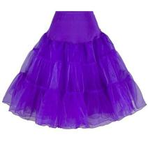 "BellaSous Tea Length 26"" Women Petticoat Nylon Yoke Underskirt for Vintage Dresses, Poodle Skirts, or Rockabilly"