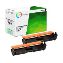 TCT Premium Compatible Toner Cartridge Replacement for HP 30X CF230X Black High Yield Works with HP Laserjet Pro M203dw M203dn M203d, MFP M277sdn M227fdw M277fdn Printers (3,500 Pages) - 2 Pack