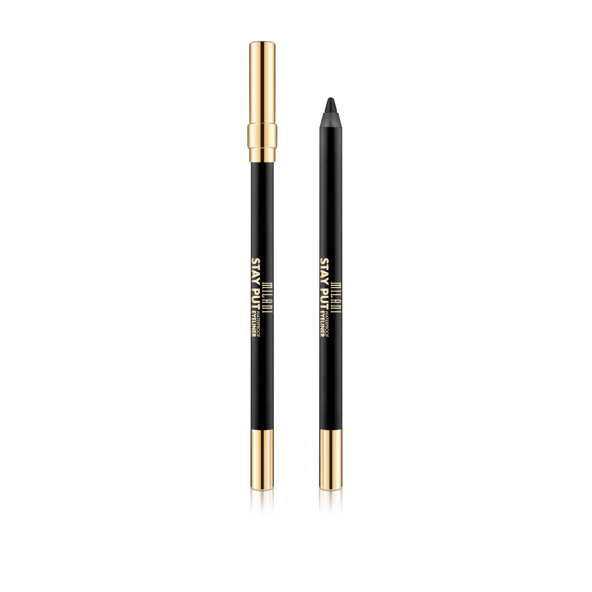 Milani Stay Put Waterproof Eyeliner - Linked On Black (0.04 Ounce) Cruelty-Free Eyeliner - Line & Define Eyes with High Pigment Shades for Long-Lasting Wear