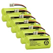 iMah BT183342 BT283342 BT166342 BT266342 BT162342 BT262342 Cordless Phone Battery Compatible with AT&T EL52100 EL50003 CL80100 CL80111 CRL80112 EL50003 VTech CS6709 CS6609 CS6509 CS6409, 6-Pack