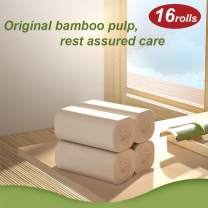 Bamboo Paper Towels Toilet Paper Towels Bulk Tissues - 16 Rolls 4-Ply Coreless Recycled Soft Eco-Friendly Roll Paper for Bathroom Toilet Made by Bamboo