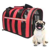 CLORIS Cat Pet Carrier for Dog, Canvas Foldable Pet Carrier Large Size Suitable for Small Dogs and Cats, Large and Medium Cats and Dogs Backpack Pet Travel Carrier, Cat Backpack Carrier