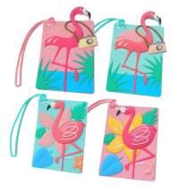 Traveler Luggage Tags Unique Cute Flamingo Luggage Tag Set of 4