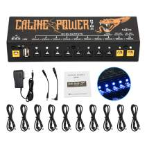 Guitar Pedal Power Supply 10 Isolated DC Output for 9V/12V/18V 100mA 300mA 500mA Effect Pedal with USB Port for Charging Mobile Phone Tablet, Short Circuit and Over Current Protection CP-04