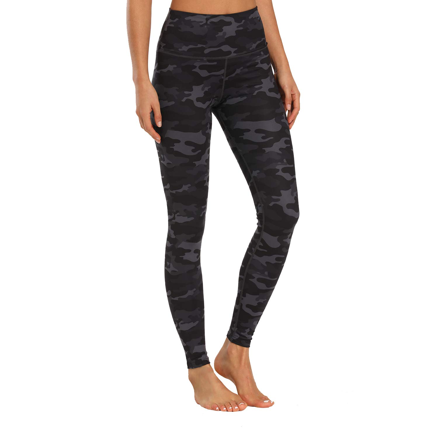Houmous Women's Buttery Soft Printed Leggings High Waisted Full-Length Yoga Pants