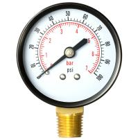 """Aquatix Pro Pool Filter Pressure Gauge - Premium Spa/Pool/Aquarium Water Pressure Gauge, 2"""" Dial, 0-100 Psi, Bottom Mount 1/4"""", Compatible with Most Brands Such as Hayward, Pentair & Jandy"""