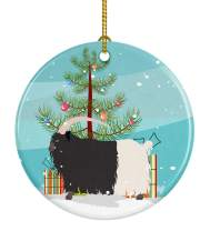 Caroline's Treasures BB9254CO1 Welsh Black-Necked Goat Christmas Ceramic Ornament, 3 in, Multicolor