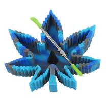 X-Value Blue/Gray Silicone Leaf Ashtray Unbreakable Decorative Tray Colorful Holder for Outside/Indoor/Home Decor