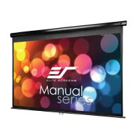 Elite Screens Manual Series, 128-INCH 16:10, Pull Down Manual Projector Screen with AUTO LOCK, Movie Home Theater 8K / 4K Ultra HD 3D Ready, 2-YEAR WARRANTY, M128UWX