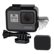 SOONSUN Frame Mount Housing Case with Lens Cover for GoPro Hero 5 6 7 Hero(2018) Hero5 Hero6 Hero7 Black, Hero7 White, Hero7 Silver Camera - Strong Structure and All Slots Fully Accessible