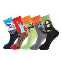 Kate Kasin Women's Winter Socks Thick Warm Funny Novelty Cute Gift Socks 5 Pairs