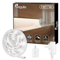 Under Cabinet Lights, Megulla 3m/9.8ft Daylight White 6000K LED Strip Lights with Dimmer Switch and ETL-Listed Power Plug for Bedroom, Headboard, Kitchen, Cupboard, Under Counter, Sewing Machine
