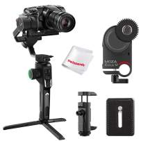 Moza AirCross 2 Professional Kit, Includes iFocus-M Wireless Lens Motor, QR Plate and Phone Holder, Supports Cameras up to 7lb, Weighs Only 2lb, 12hrs Runtime, Auto-Tuning AI Calculation, OLED Screen