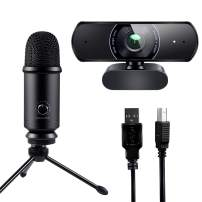 Victure 1080P Webcam and USB Microphone Live Streaming Kit, Plug and Play, Recording for PC Desktop Laptop MAC