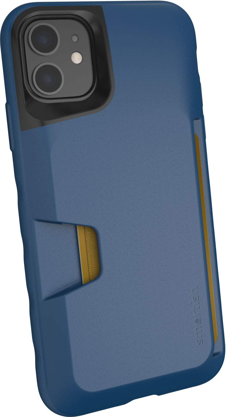 Smartish iPhone 11 Wallet Case - Wallet Slayer Vol. 1 [Slim + Protective] Credit Card Holder (Silk) - Blues on The Green