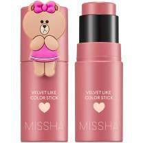 Missha - Velvet Like Color Stick, Line Friends Edition (Mystery Rose) - Dewy, Long lasting Makeup