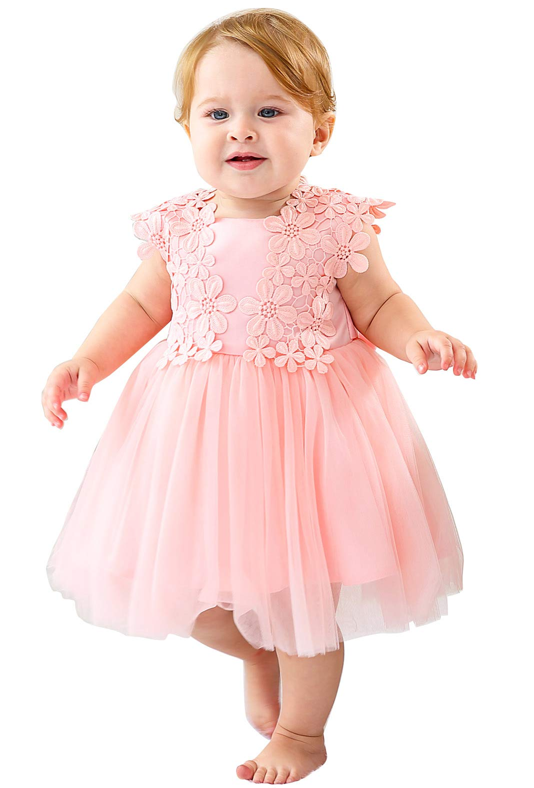 Happy Cherry Baby Girl Pageant Formal Flower Sleeveless Blessing Princess Dress