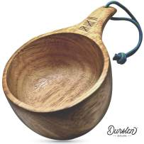 Uberleben Dursten Lore 12oz Kuksa   Handcrafted Traditional Wooden Camp Cup   Lightweight & Eco-Friendly   Camping, Backpacking or Bushcraft