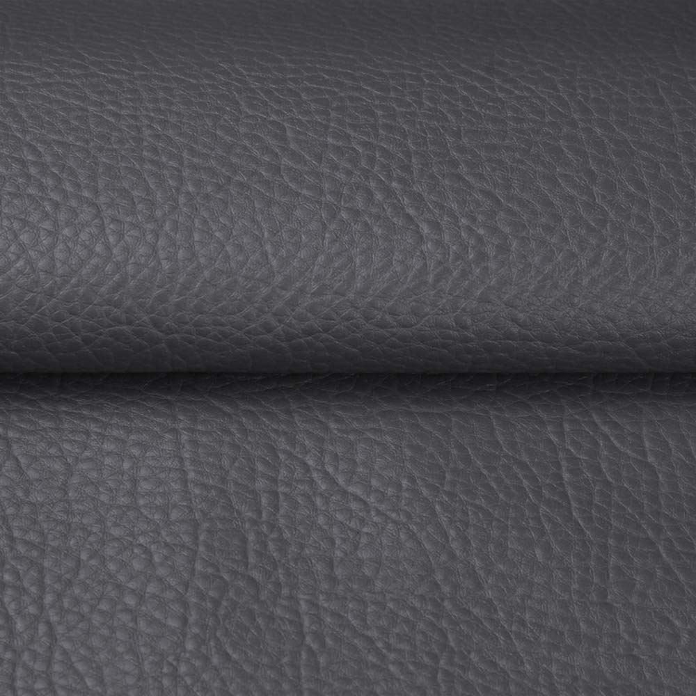 """ANMINY Vinyl Faux Leather Fabric Cotton Back for Hand Crafts DIY Tooling Sewing Hobby Workshop Crafting Wallet Making Square 0.7mm Thick 54"""" Wide by The Yard (Grey)"""