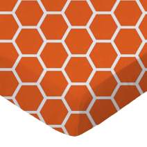 SheetWorld Fitted Pack N Play (Graco) Sheet - Burnt Orange Honeycomb - Made In USA