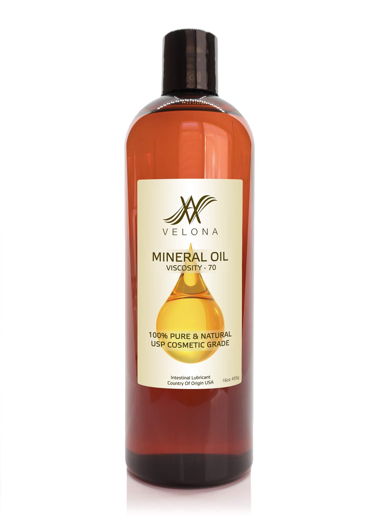 Mineral Oil 70 Viscosity NF USP Grade Lubricant Pure VELONA (16oz)