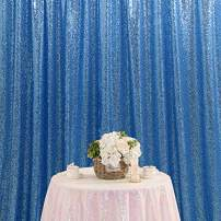 B-COOL Sequin Photo Booth 8ft x 8ft Baby Blue Sequin Backdrop Sparkly Curtain for Wedding Birthday Party Baby Shower Bridal Shower