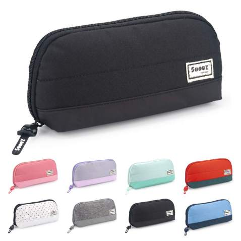 PU Leather Pencil Fountain Pen Storage Case Pouch Bag Holder for 3 Pens Supply