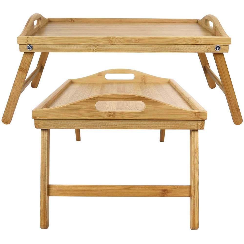 Greenco Foldable Breakfast Table, Laptop Desk, Bed Table, Serving Tray