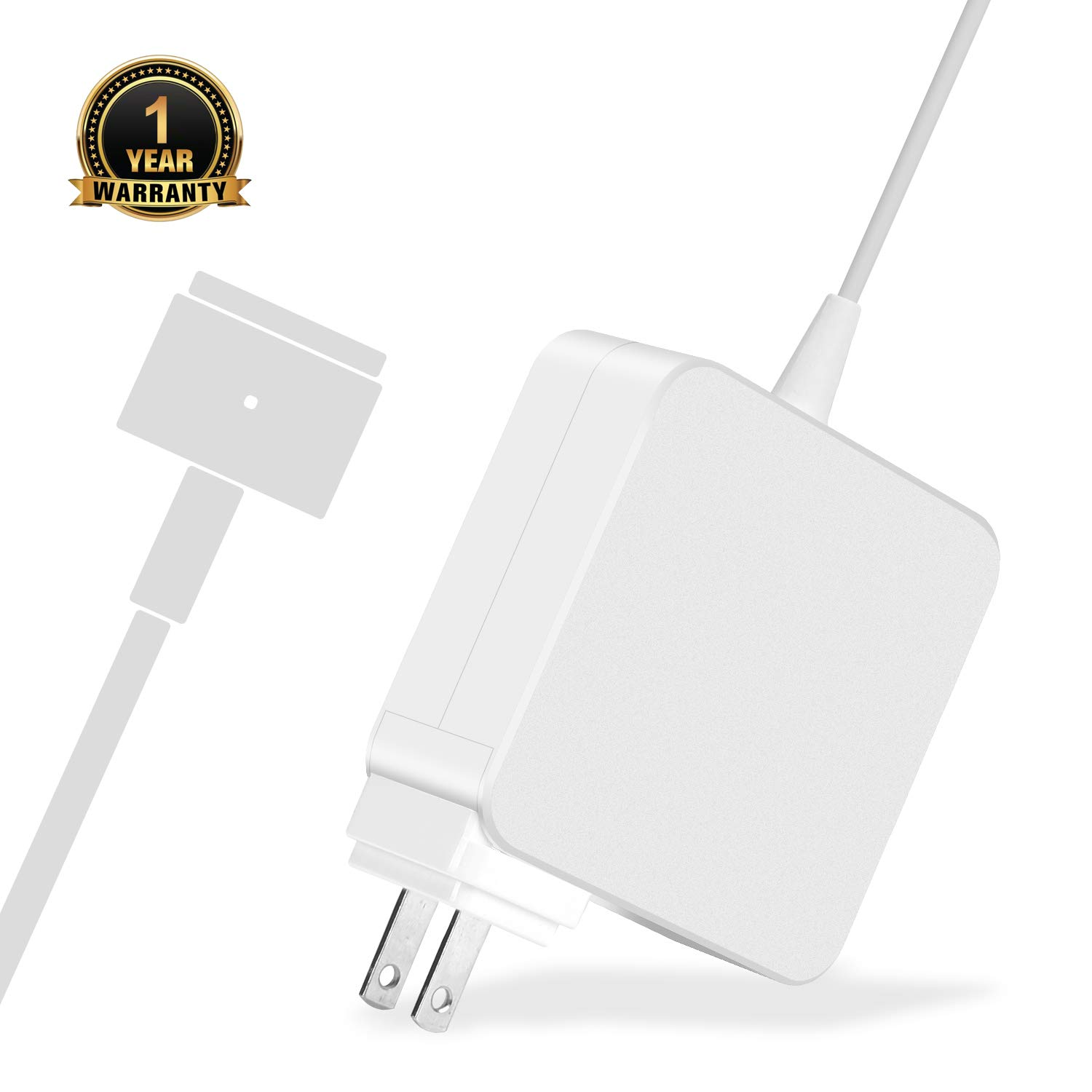 Mac Book Pro Charger, AC 60w Magsafe 2 T-Tip Power Adapter Charger Replacement for MacBook Pro Air 11-inch and 13 inch A1425 A1435 A1465 A1502 (Made After Late 2012)