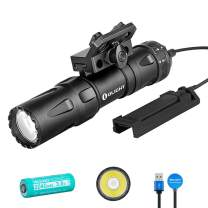 OLIGHT Odin Mini 1250 Lumens MLOK Mount Rechargeable Tactical Flashlight with Quick Release Mount and Remote Switch, Powered by 1x 18500 Battery, Mlok Included 240 Meters Beam Distance